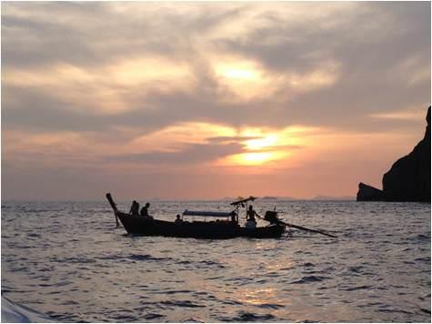 Sunset en Phi Phi Island-islas de tailandia