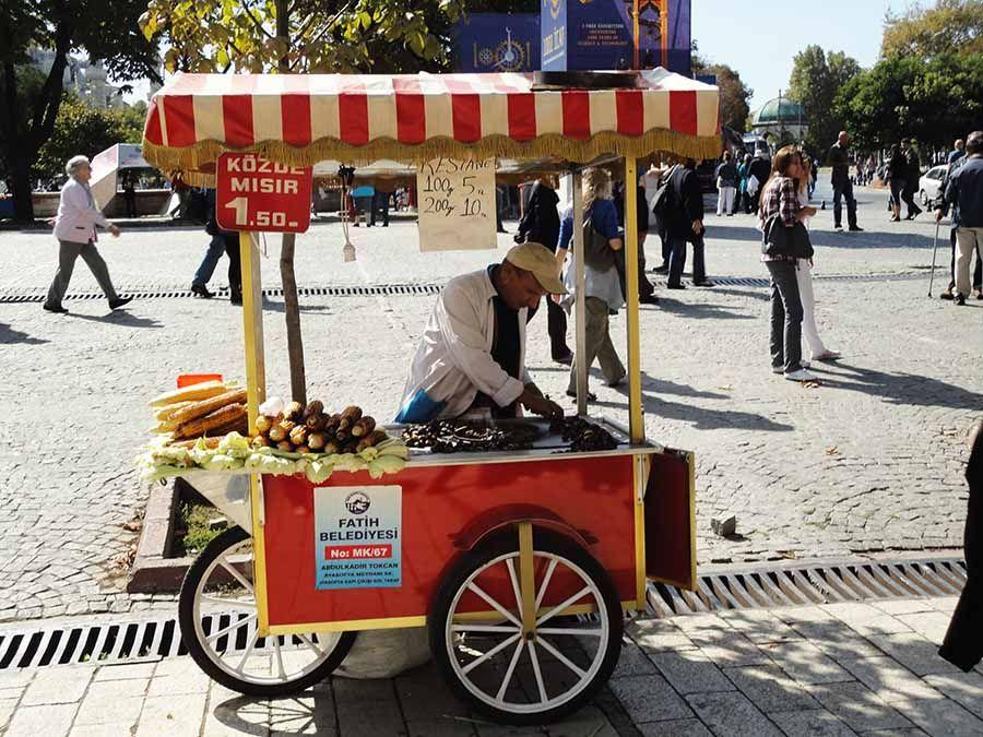 Comida ambulante tipica Estambul
