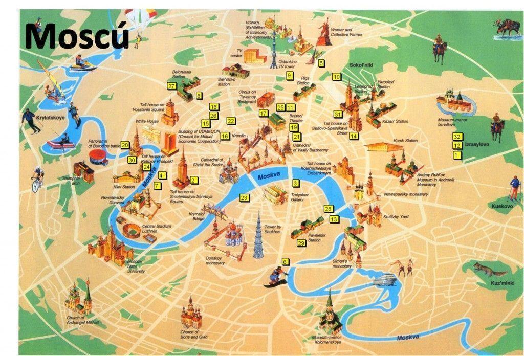 Mapa Moscú