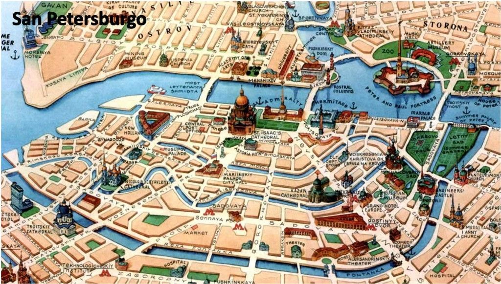 Mapa San Petersburgo