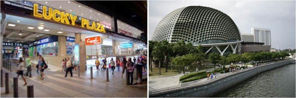 turismo en Singapur-esplanade-lucky plaza