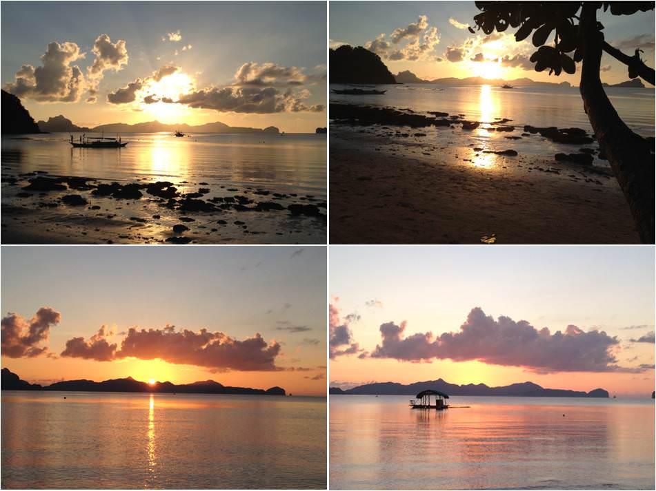 Puesta de Sol Filipinas-Playa Las Cabañas-El Nido