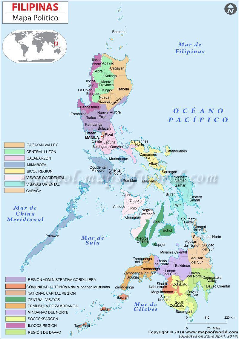 mapa de filipinas-turismo en filipinas