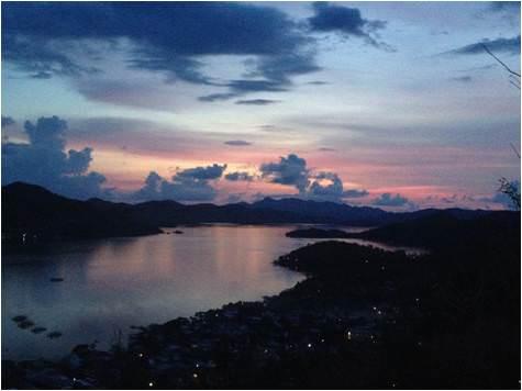 puesta de sol filipinas-coron town