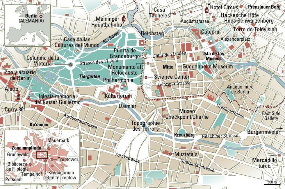 Mapa de Berlín - Plano de la ciudad