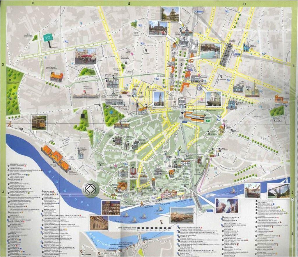 Mapa de Oporto - Plano