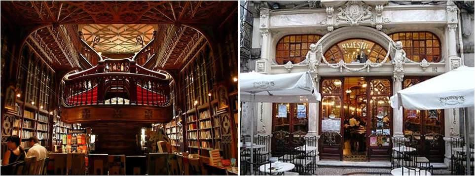 Viaje a Oporto - Librería Lello e Irmao - café Majestic