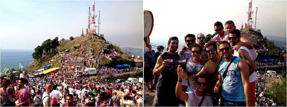 Qué ver en Vigo de turismo-Tamborada en la Guardia