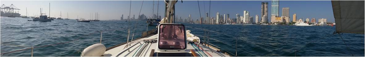Llegada en velero a Cartagena