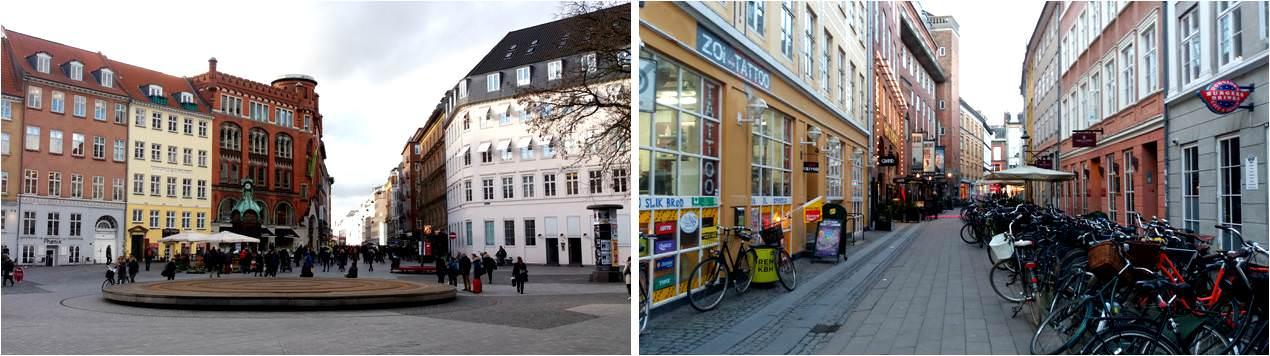 Calle peatonal Stroget en Copenhague