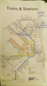 Mapa de trenes de Copenhague
