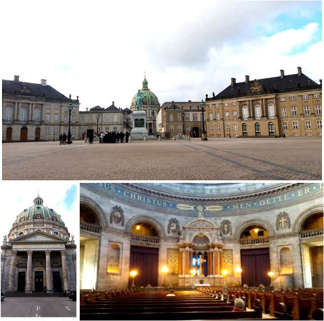 Qué visitar en Copenhague-Mezquita de mármol y Palacio de Amalienborg