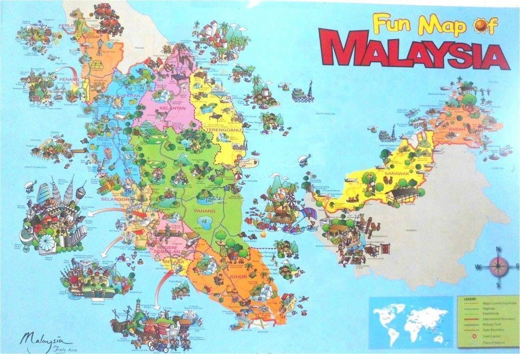 Mapa de malasia para turismo
