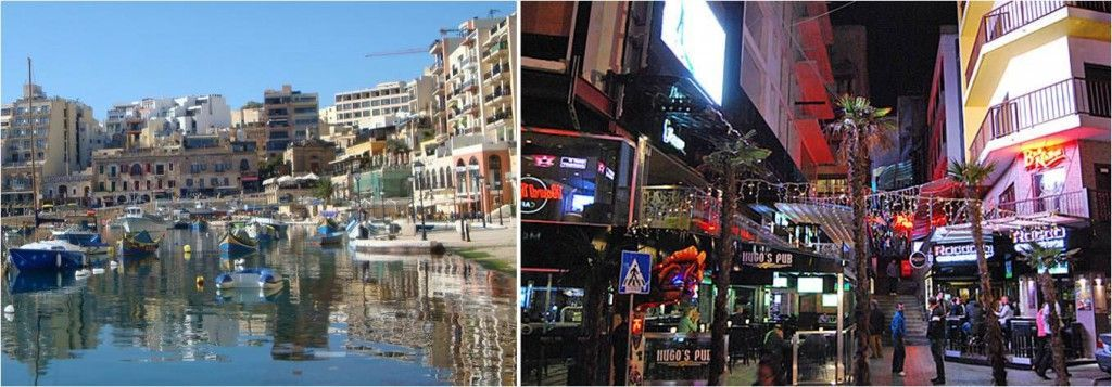 Travel to Malta - Spinola Bay - Paceville
