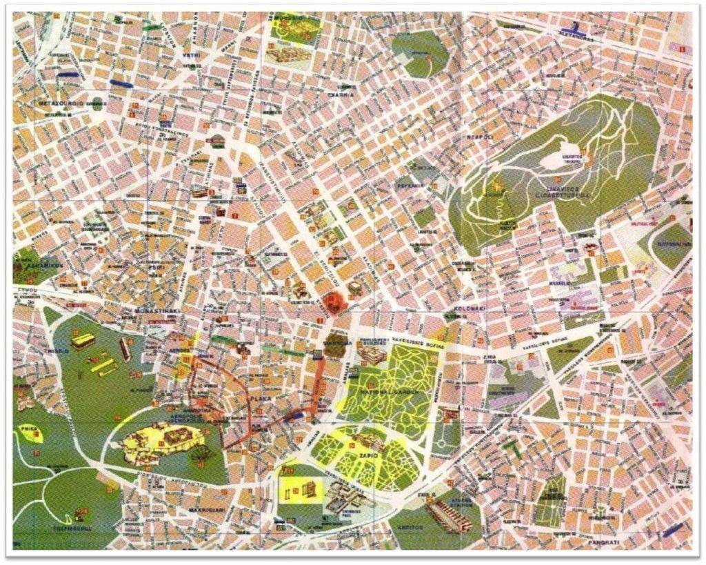 Mapa de Atenas