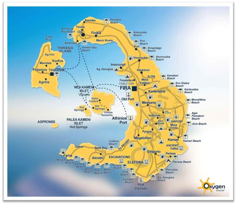 Mapa de Santorini