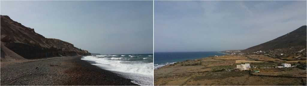 Playas en Santorini-Playa de Vourvoulos