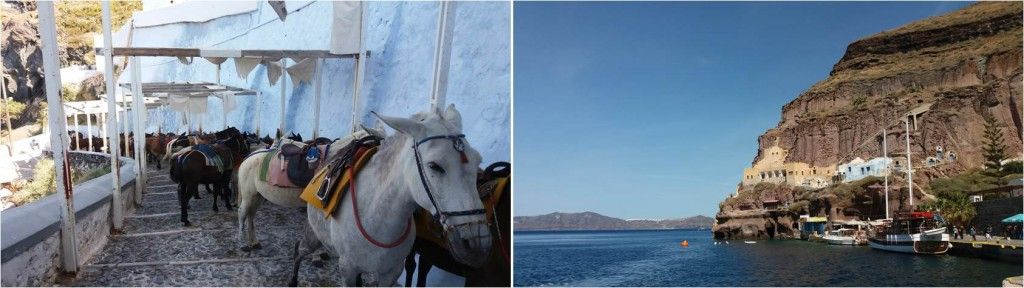 Qué ver en Santorini-Old port-Fira-Burros