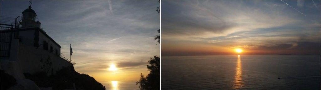 Sunset en Santorini - Faros