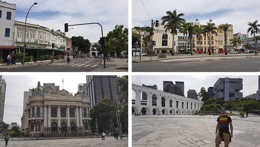 Turismo en el barrio de Lapa en Río de Janeiro