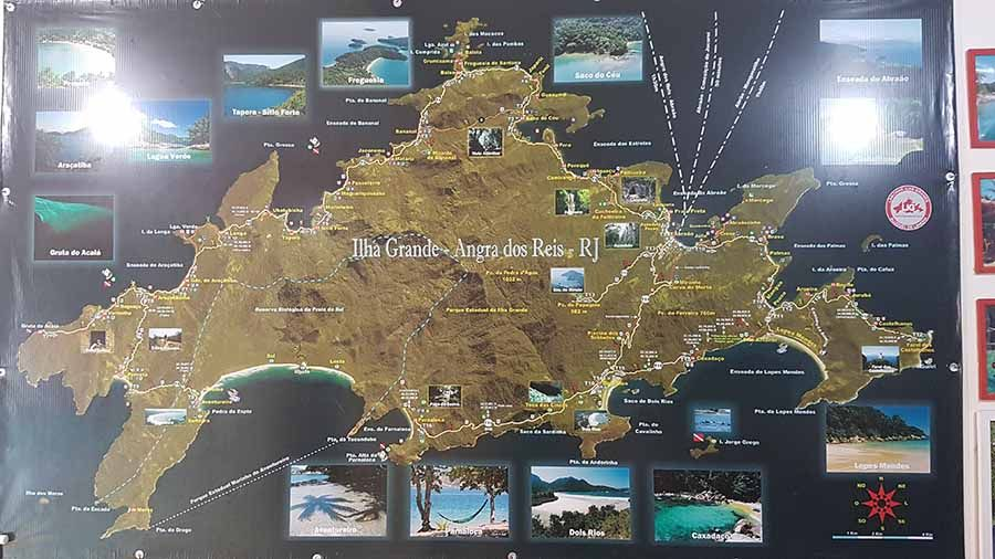 Mapa de Ilha Grande - Brasil