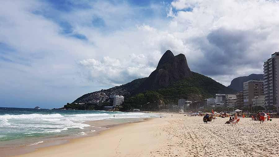 Playa de Leblón en Río de Janeiro