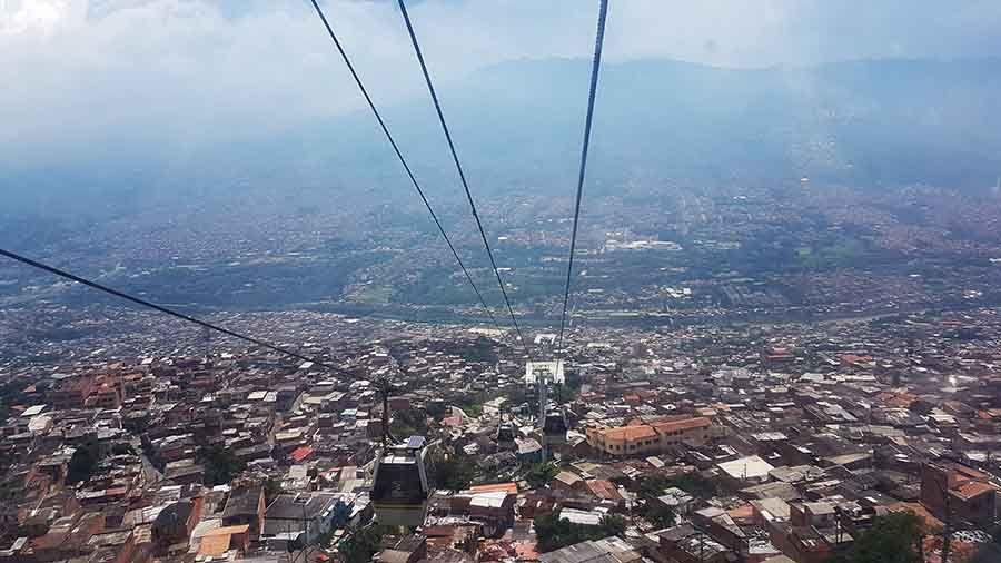Cable car en Santo Domingo - Medellín
