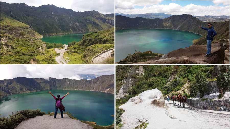 Volcanes en Ecuador - Laguna de Quilotoa