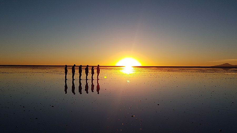 Puesta de Sol en Salar de Uyuni - Sunset - Atardecer