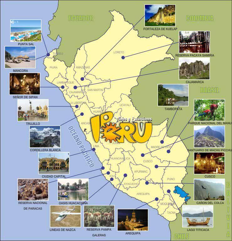Mapa de Perú - Guía de viaje