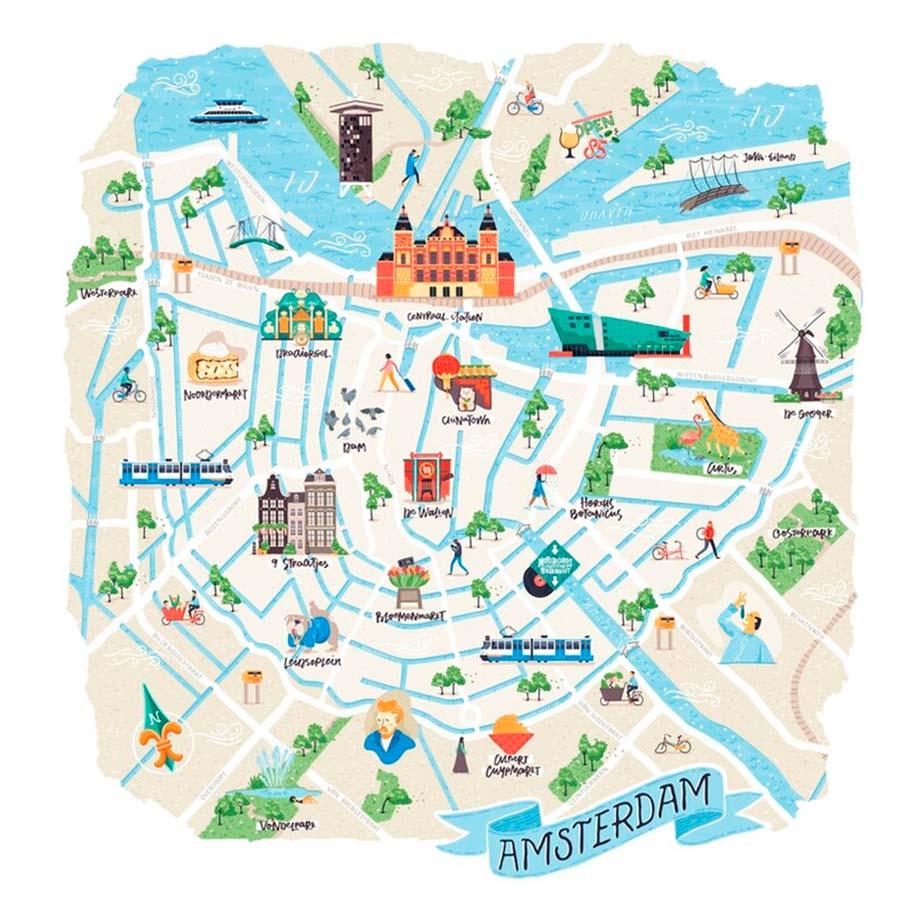 Amsterdam mapa TGDV