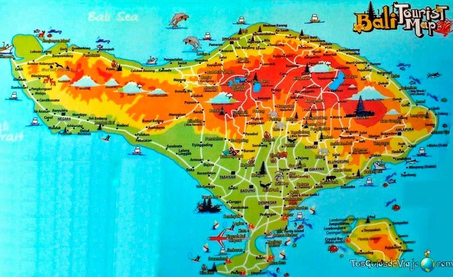 Bali Mapa TGDV