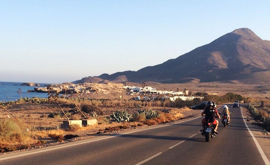 Cabo de Gata en moto