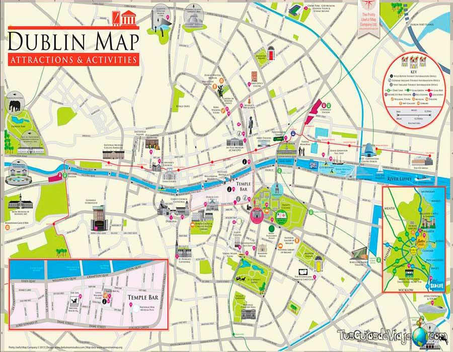 Dublin mapa TGDV