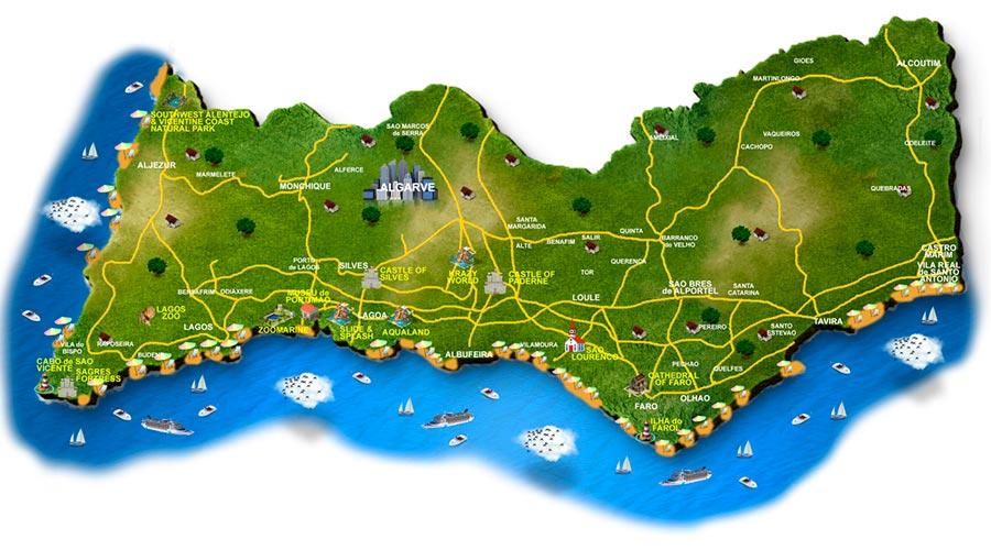 Mapa Algarve TGDV