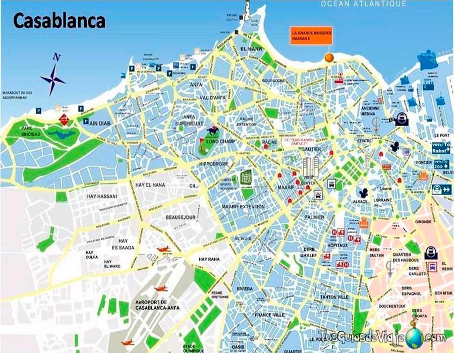 Mapa Casablanca TGDV
