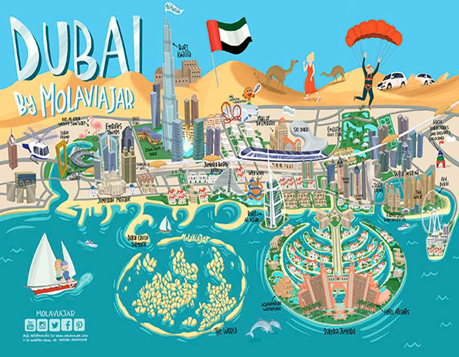 Mapa Dubai TGDV