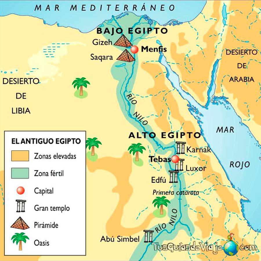 Mapa Egipto TGDV
