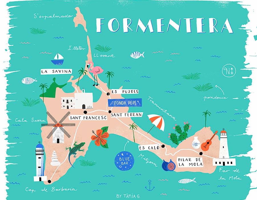 Mapa Formentera TGDV