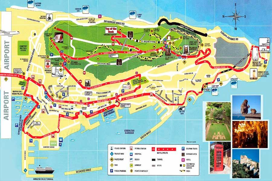 Mapa Gibraltar TGDV