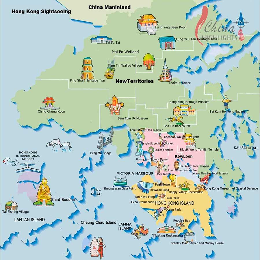 Mapa Hong Kong TGDV