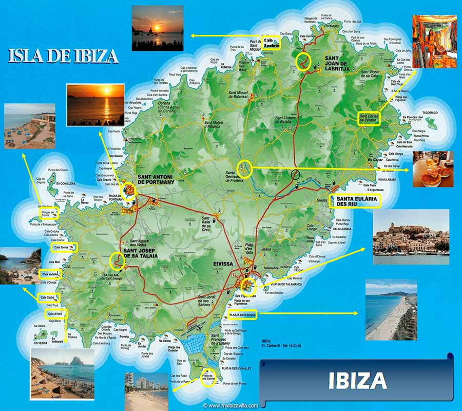 Mapa Ibiza TGDV