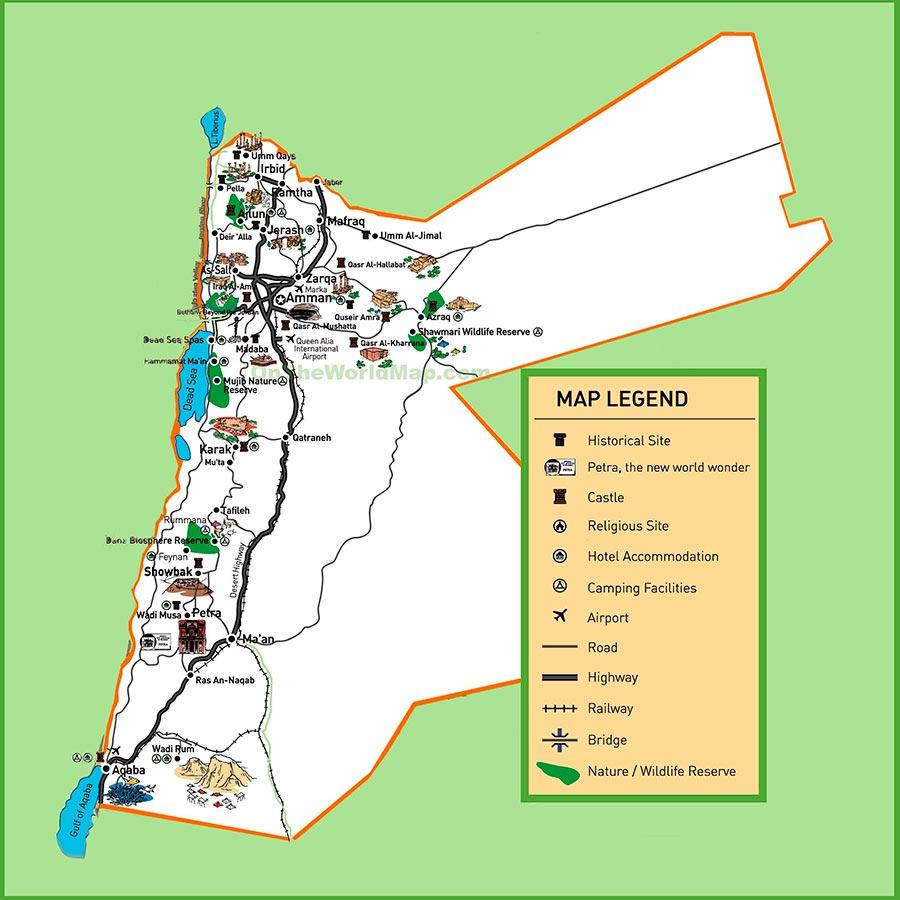 Mapa Jordania TGDV