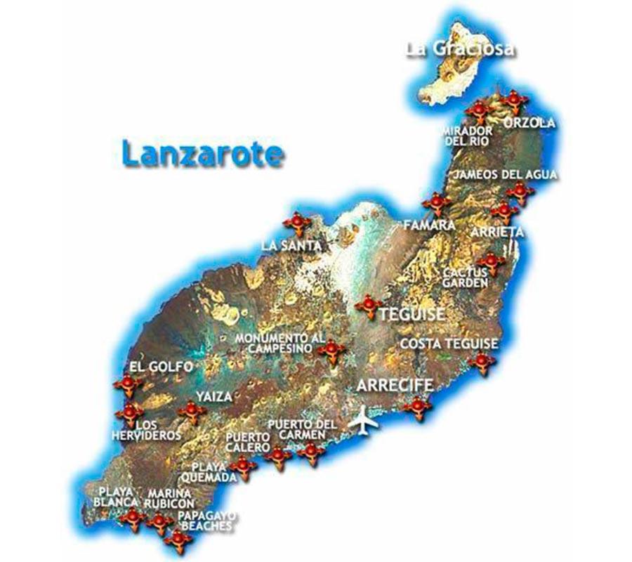Mapa Lanzarote TGDV