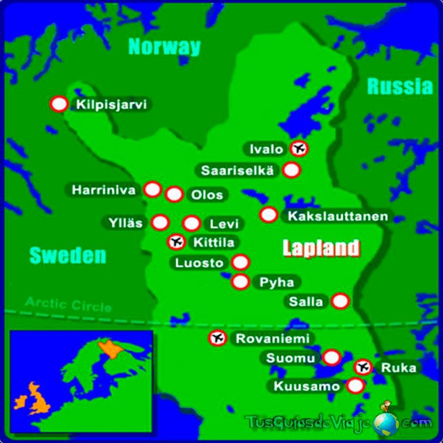 Mapa Laponia TGDV