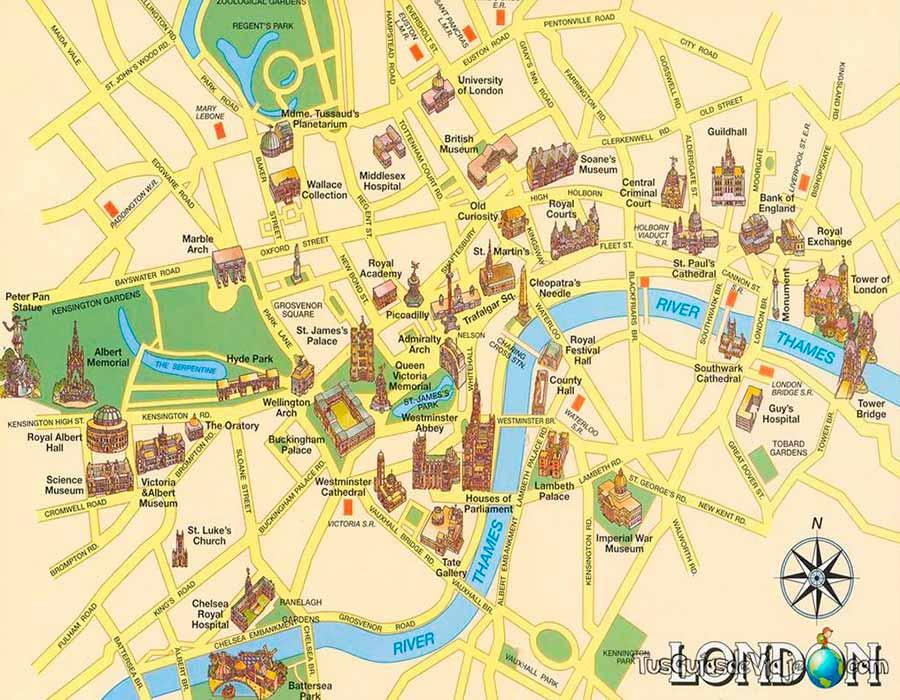 Mapa Londres TGDV