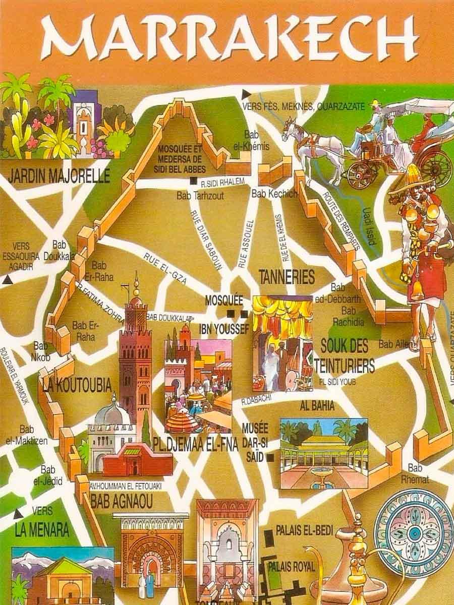 Mapa Marrakech TGDV