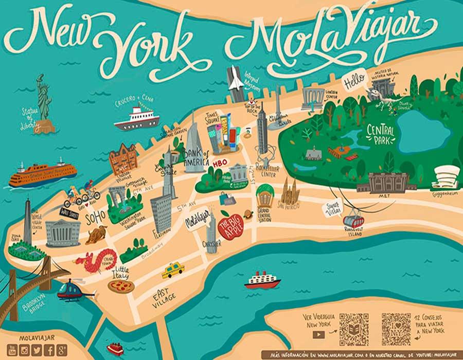 Mapa Nueva York TGDV