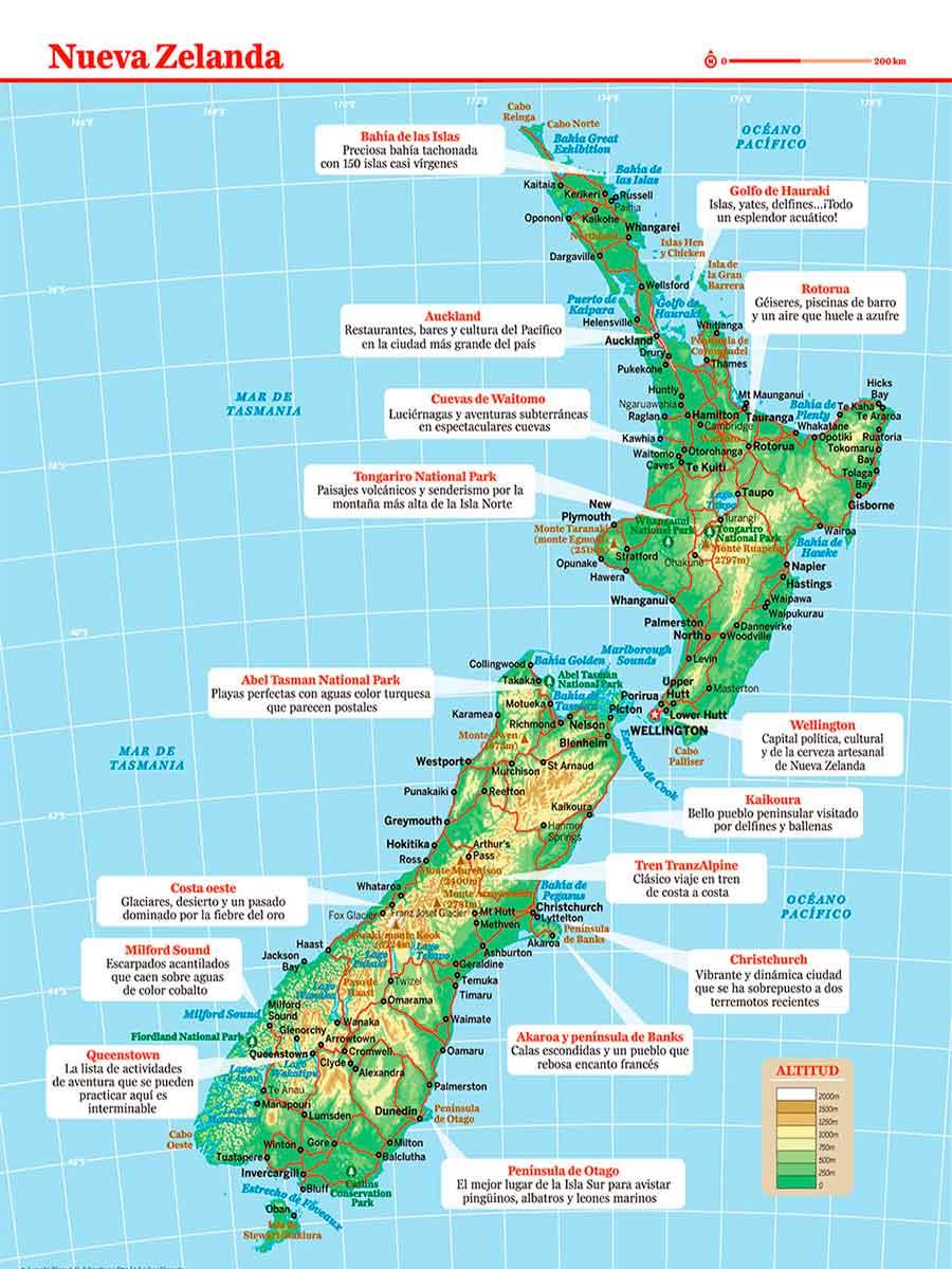 Mapa Nueva Zelanda TGDV