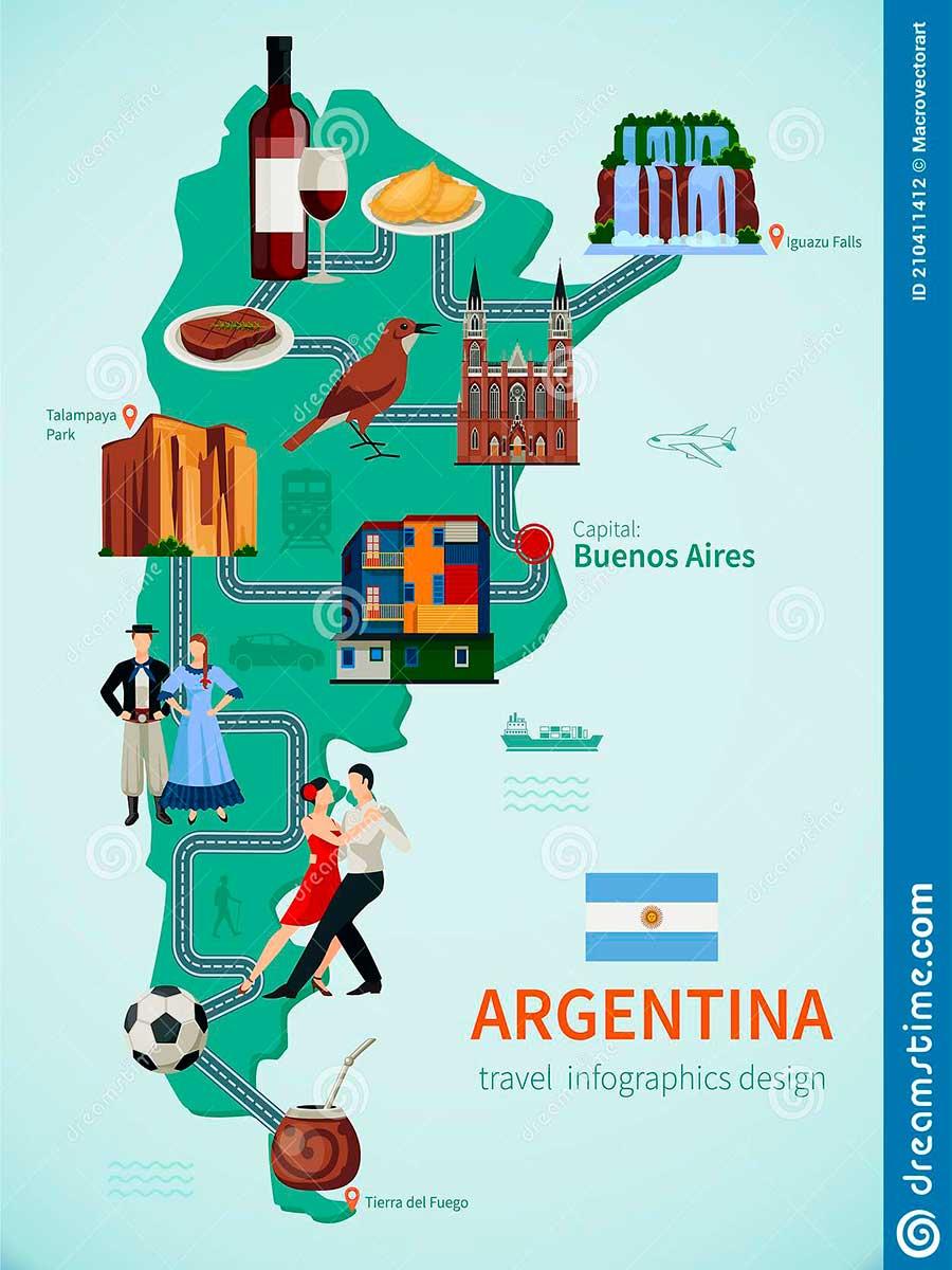 Mapa de Argentina TGDV